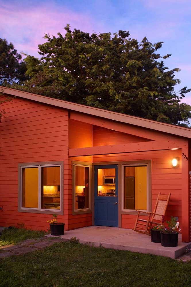 Um pouco de cor para a fachada da casa