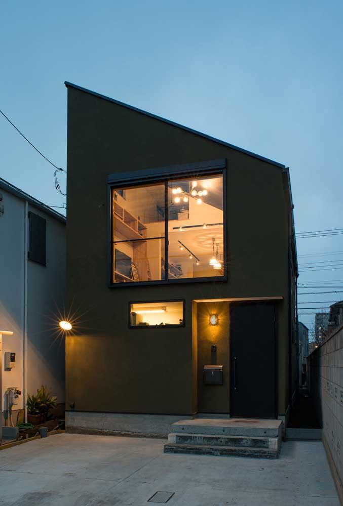 E que tal uma fachada de casa toda preta?