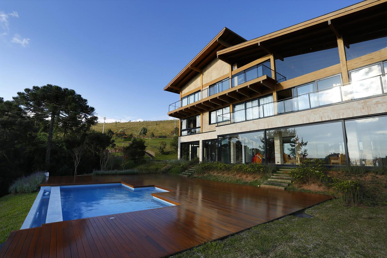 Casa de campo 100 modelos com fotos e projetos for Modelos de piscinas de campo