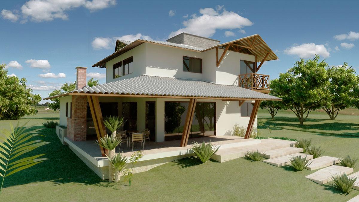 Casa de campo 100 modelos com fotos e projetos - Casas pequenas de campo ...