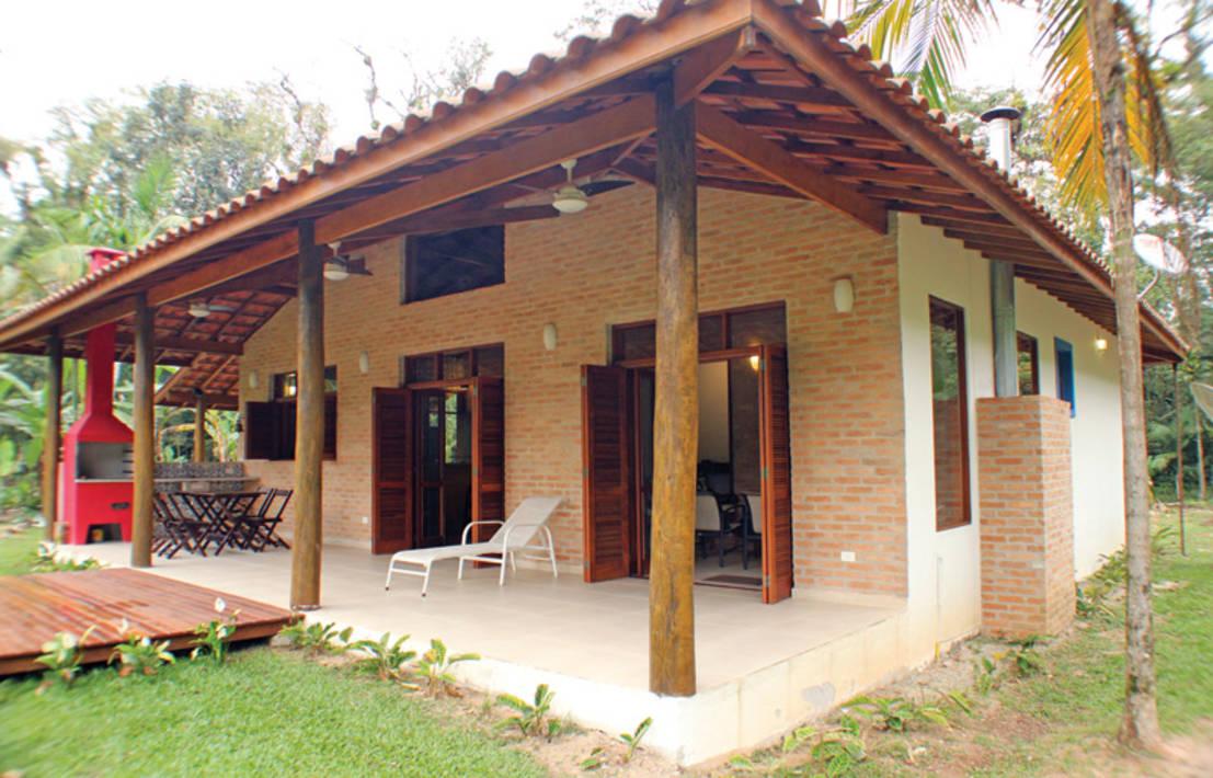 Casa de campo 100 modelos com fotos e projetos Fotos de patios de casas pequenas