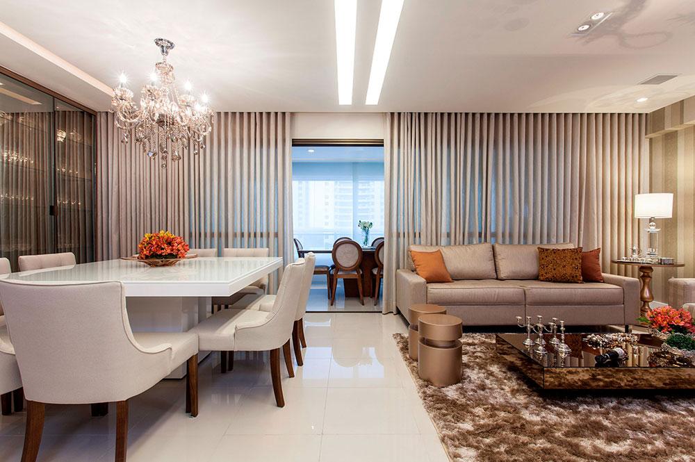 Sala Para Dois Ambientes 60 Projetos Integrados Com Fotos -> Decoração De Sala De Jantar E Estar No Mesmo Ambiente