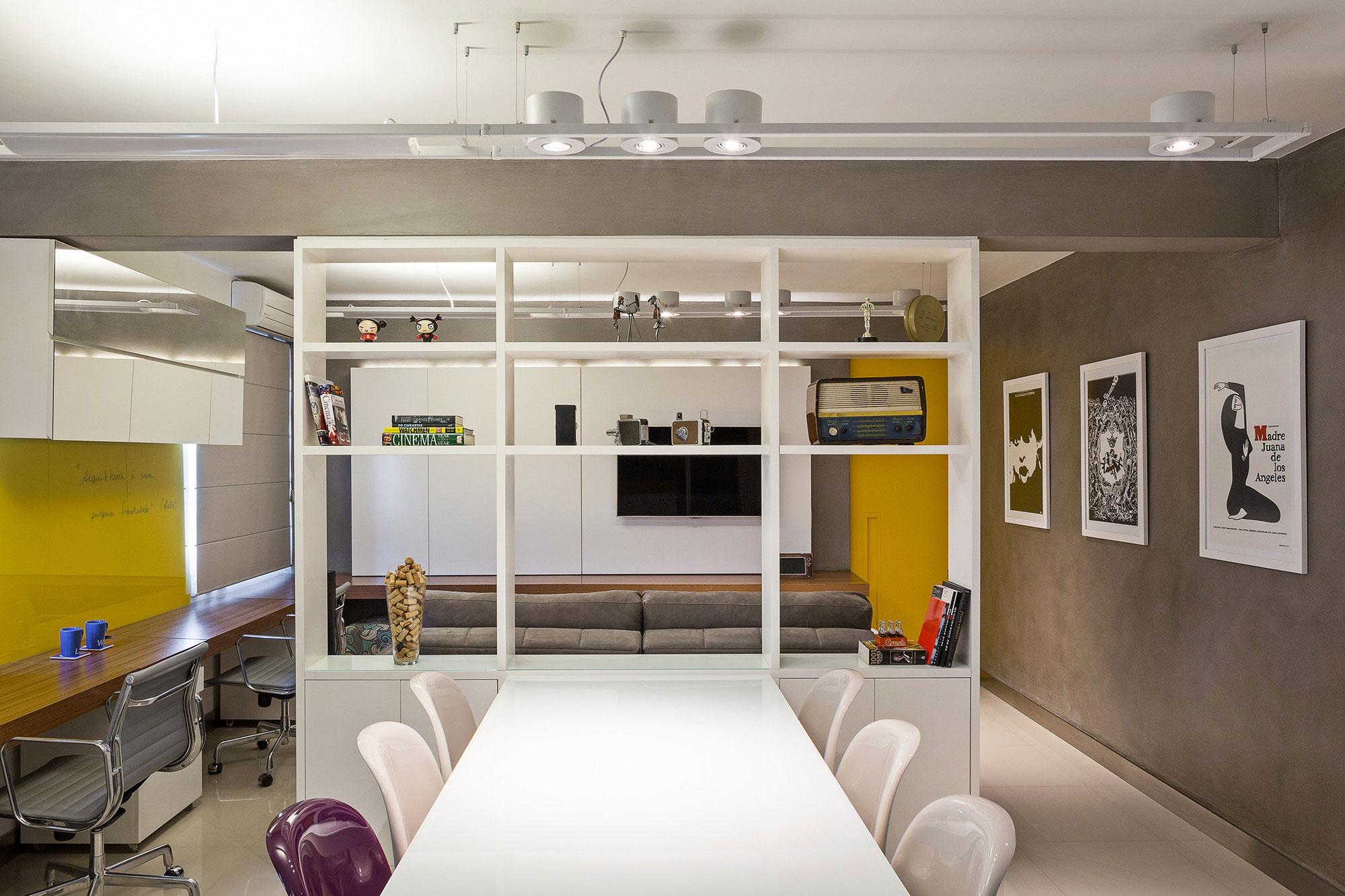 Sala Para Dois Ambientes 60 Projetos Integrados Fotos  -> Fotos De Ambientes