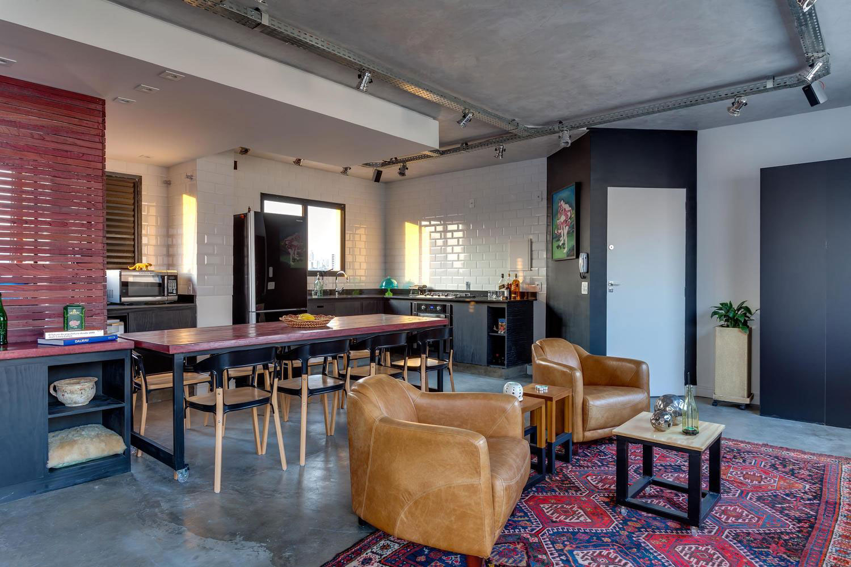 Sala Para Dois Ambientes 60 Projetos Integrados Fotos  -> Divisor Sala E Cozinha