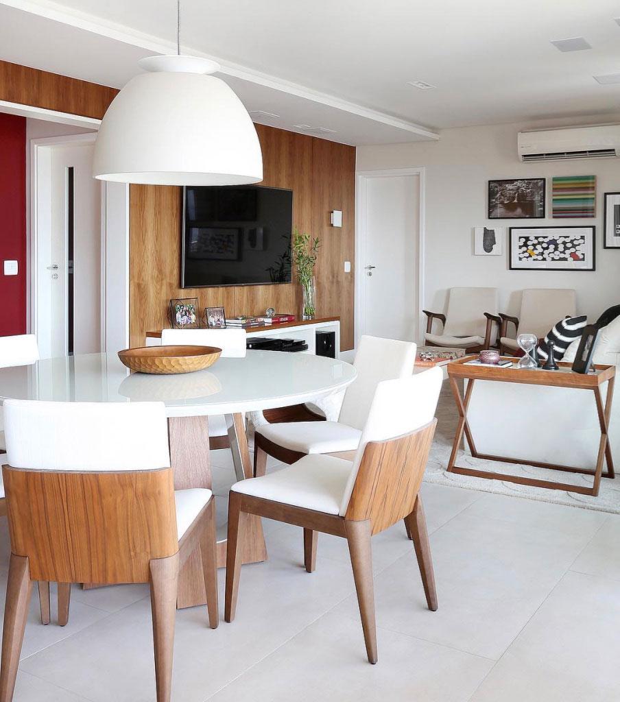 Sala Para Dois Ambientes 60 Projetos Integrados Fotos  -> Acabamento De Sala E Cozinha