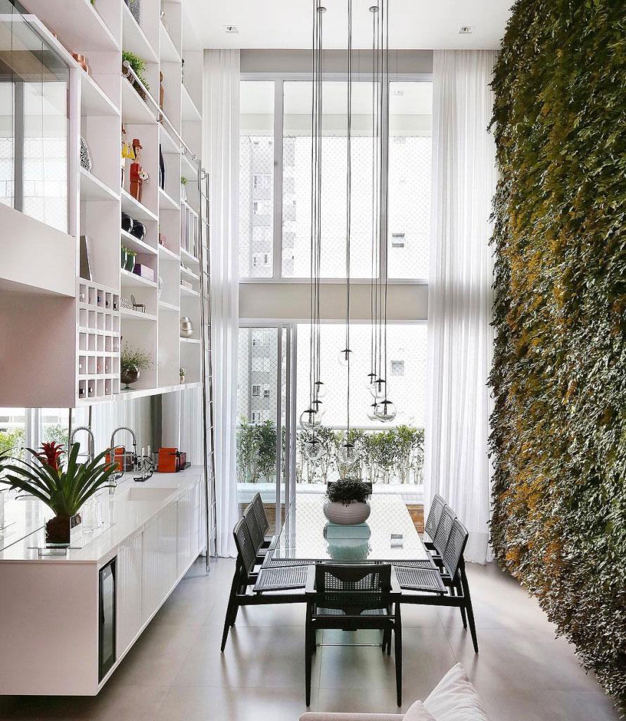 Sala Para Dois Ambientes 60 Projetos Integrados Fotos  -> Cozinha Com Sala Conjugada