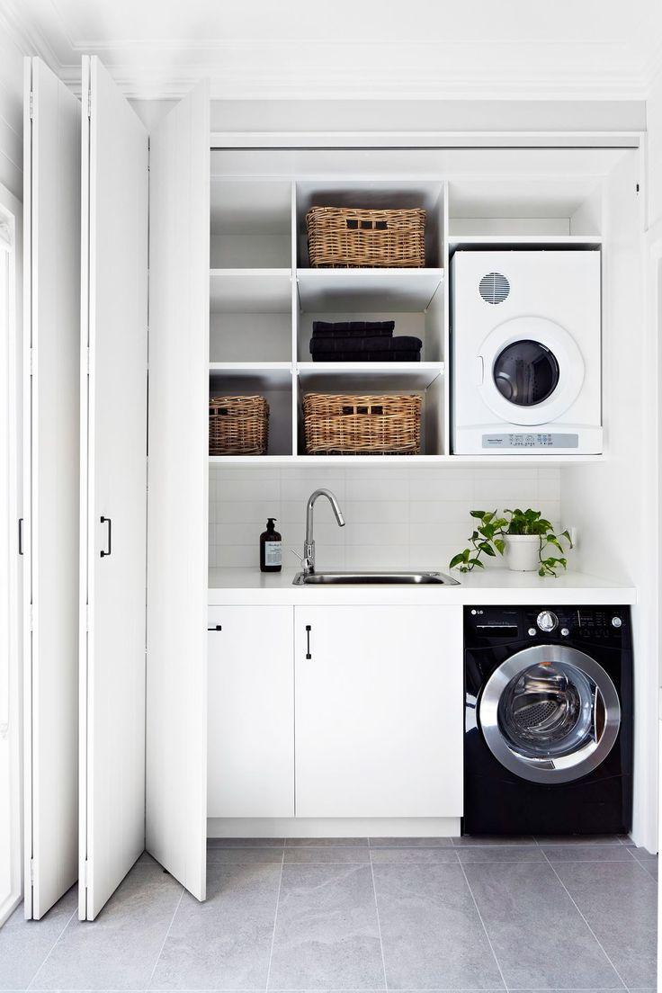 Rea De Servi O Decorada 135 Modelos Fotos E Projetos  ~ Porta Sanfonada Para Cozinha
