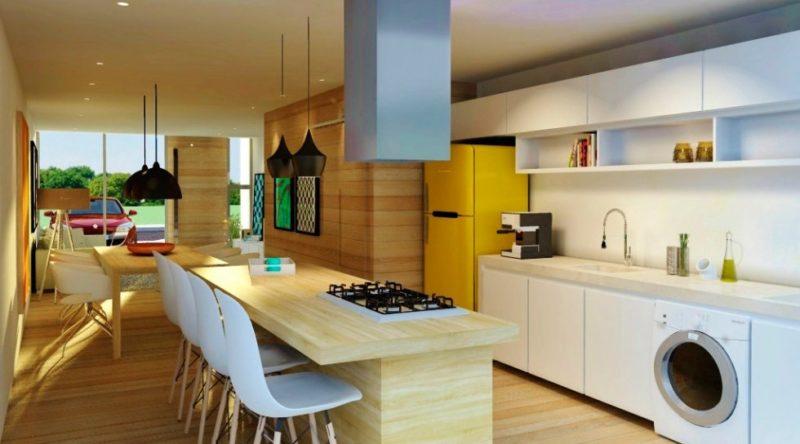 Cozinha com ilha central: projetos com fotos