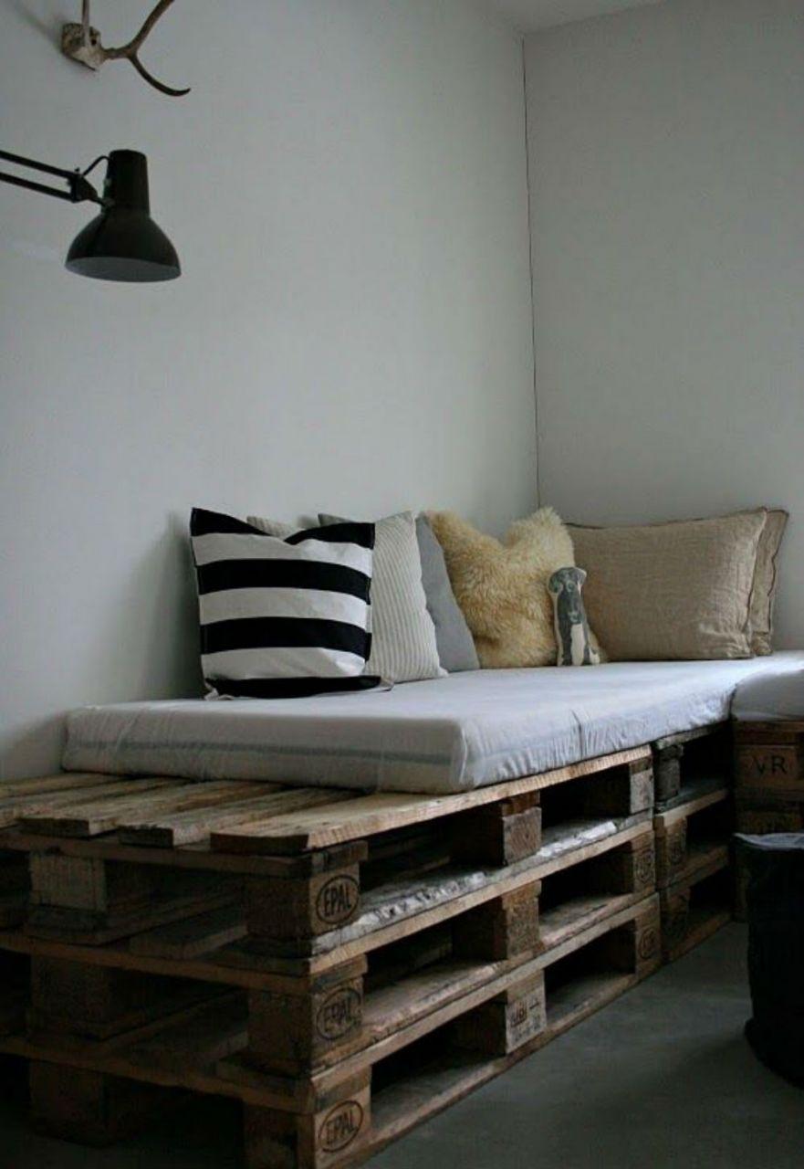 sofá de pallet simples para o seu cantinho