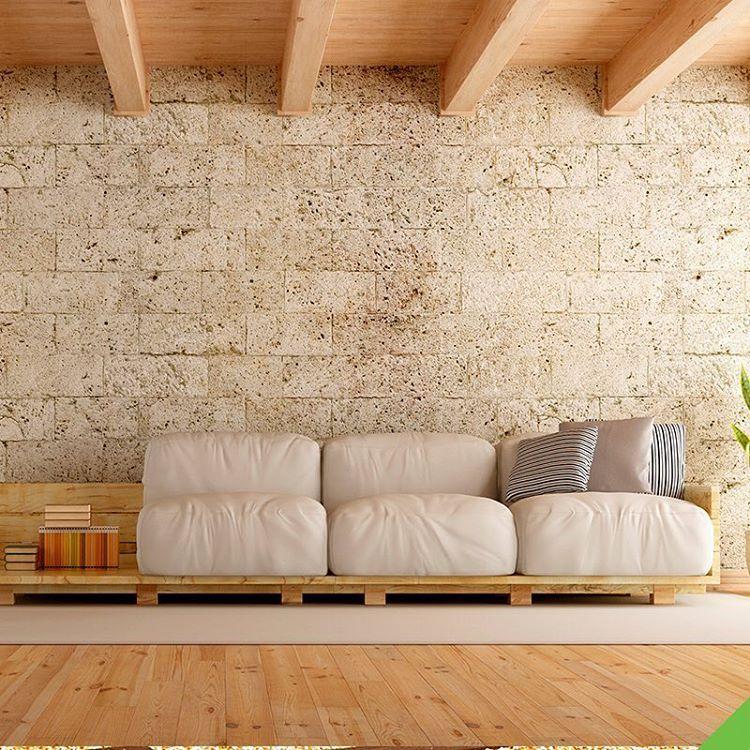 sofá de pallet grande para a sala de estar