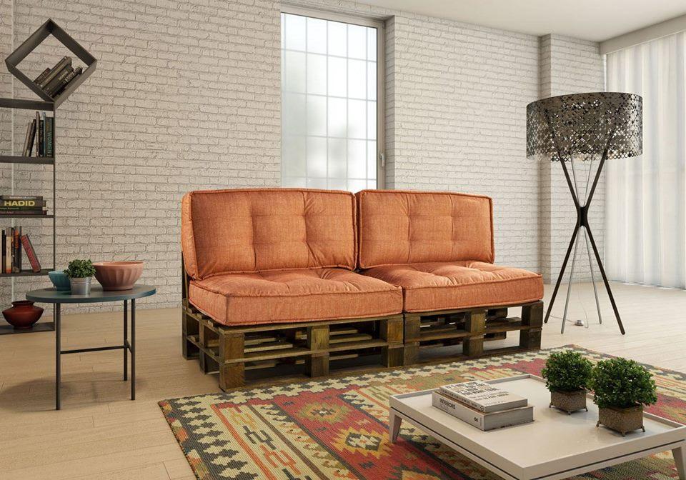 almofadas charmosas para um sofá de dois lugares