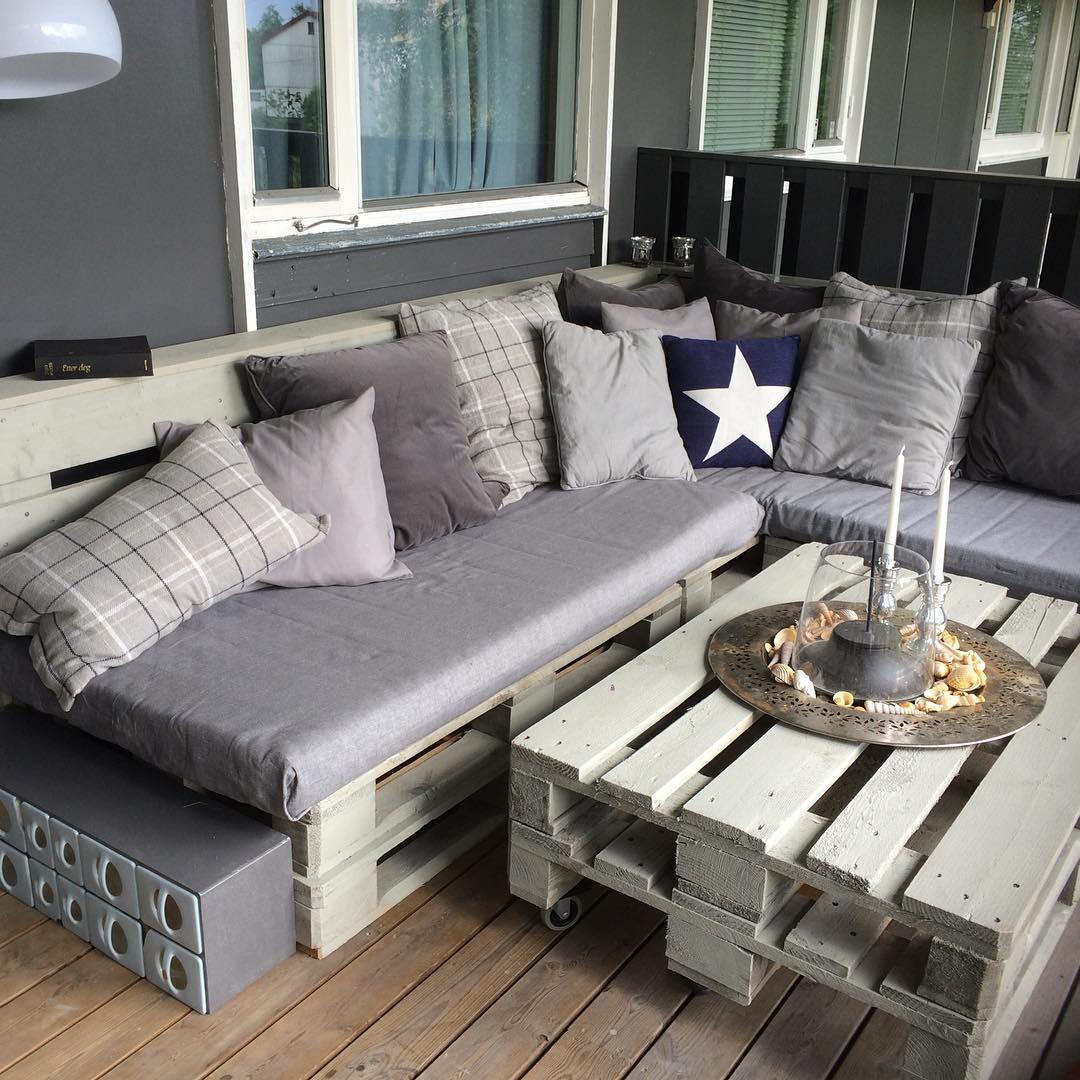 Sofa em L de pallet