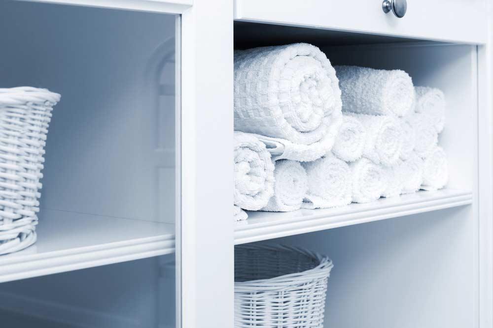 Toalhas no armário