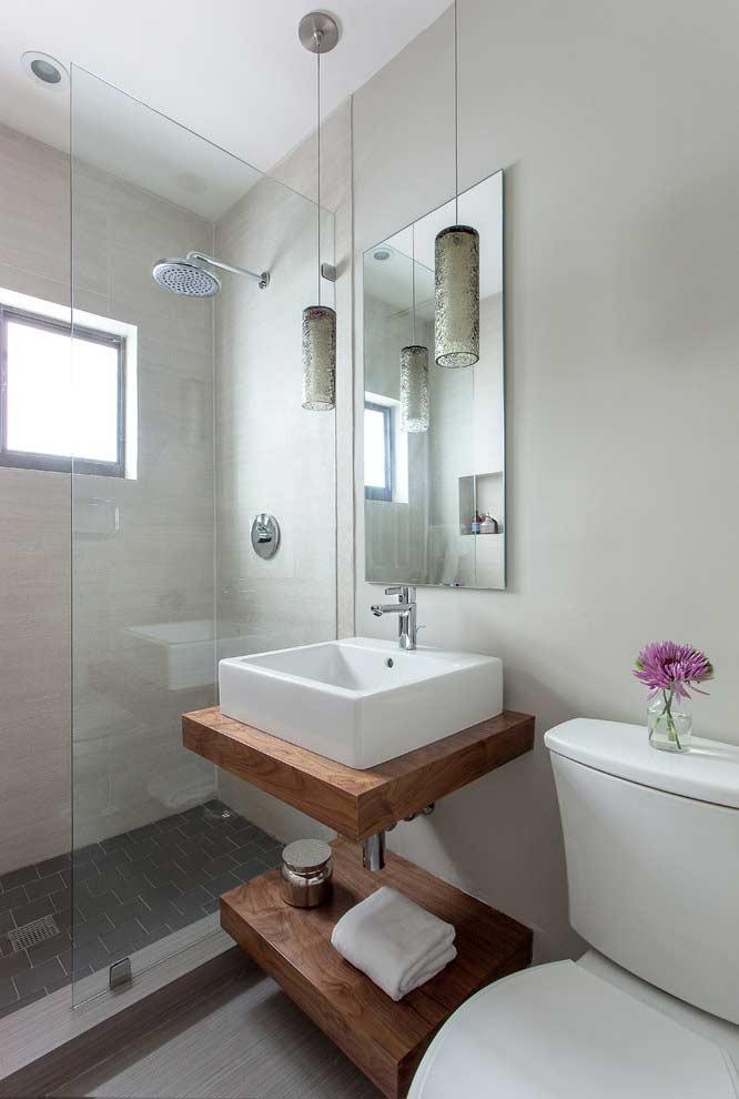 iluminação alternativa para banheiros pequenos