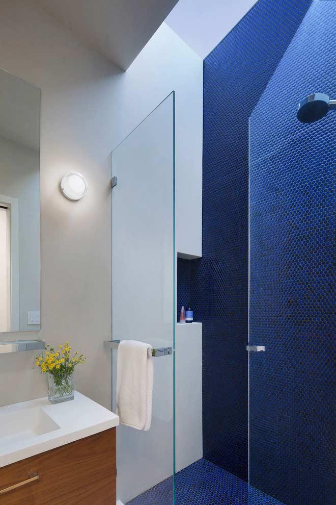 Revestimento destaque para banheiros pequenos