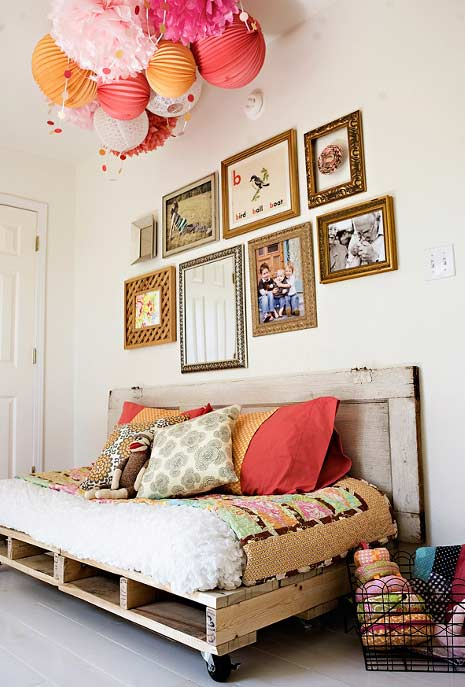 Sofá cama de pallet