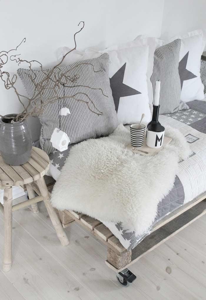 Sofá cama de pallets