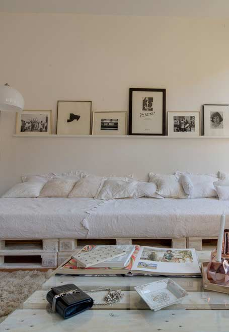 Sofa cama offwhite