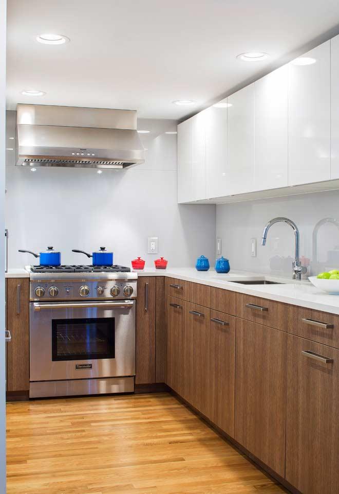 Projeto de cozinha planejada com estilos diferentes