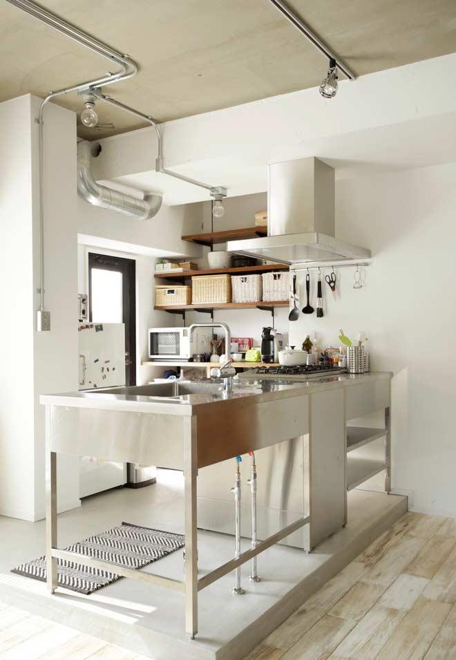 Cozinha de chef: planejado numa pegada mais industrial