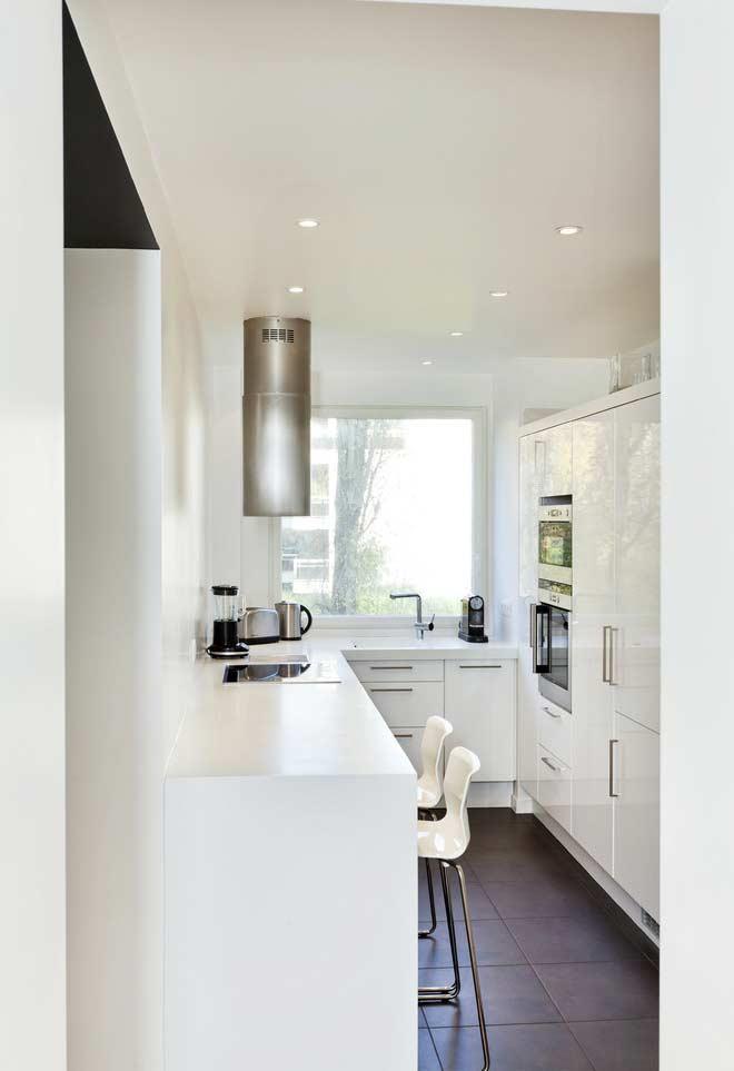 Cozinha pequena em U