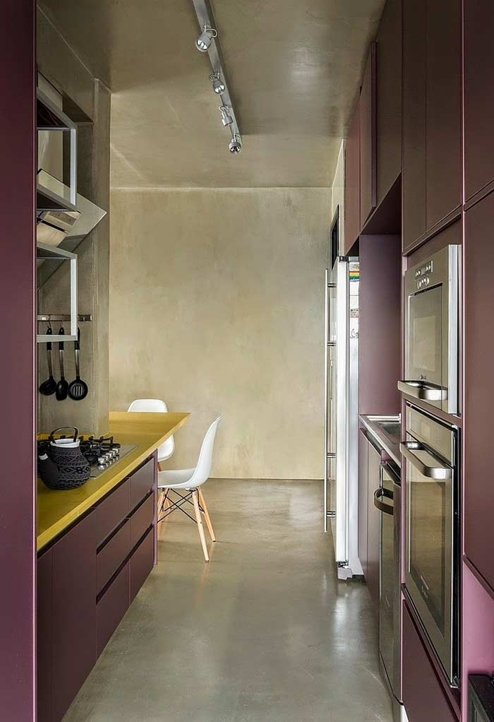 Cores ousadas para uma cozinha moderna