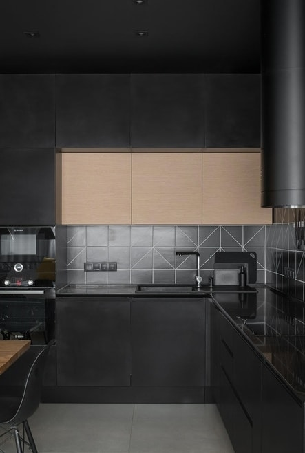 Cozinha planejada dark