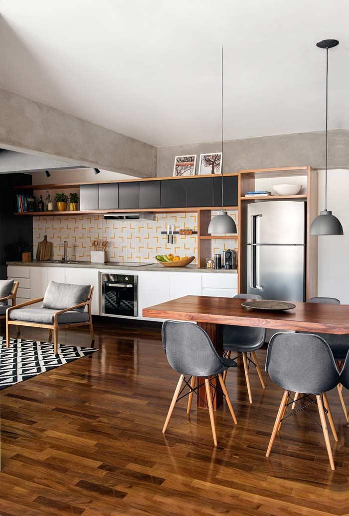 Cozinha planejada para ambientes conjugados