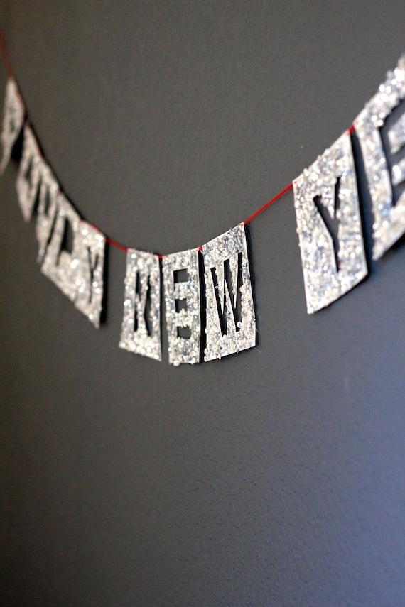 Bandeirolas para usar na decoração de ano novo