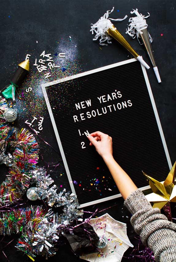 Quadro de resoluções para o próximo ano