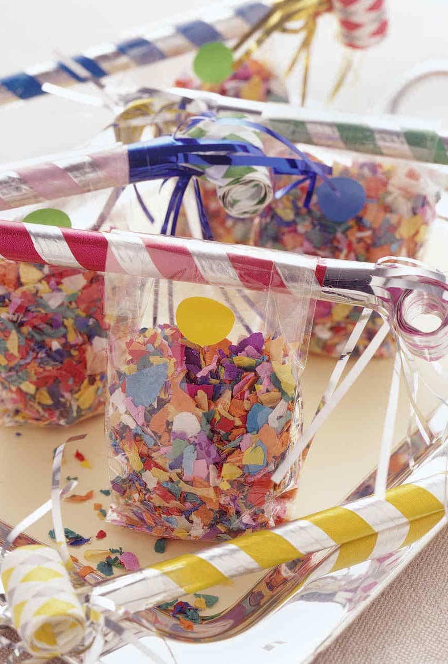 Confetes para os convidados