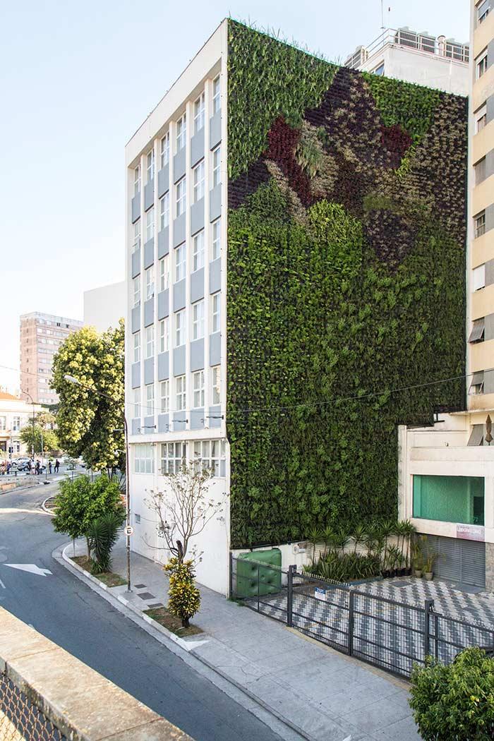 Jardim vertical no edifício