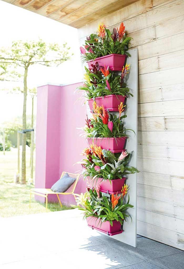 Vários andares de jardim vertical pequeno