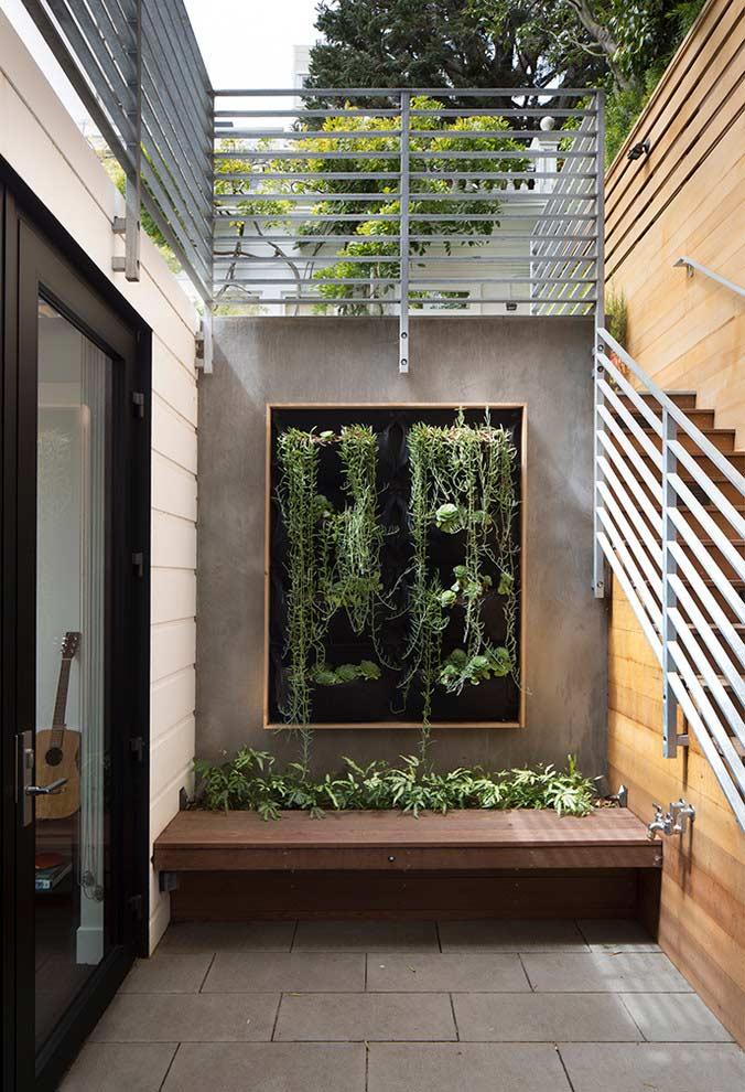 Jardim vertical para áreas vazias