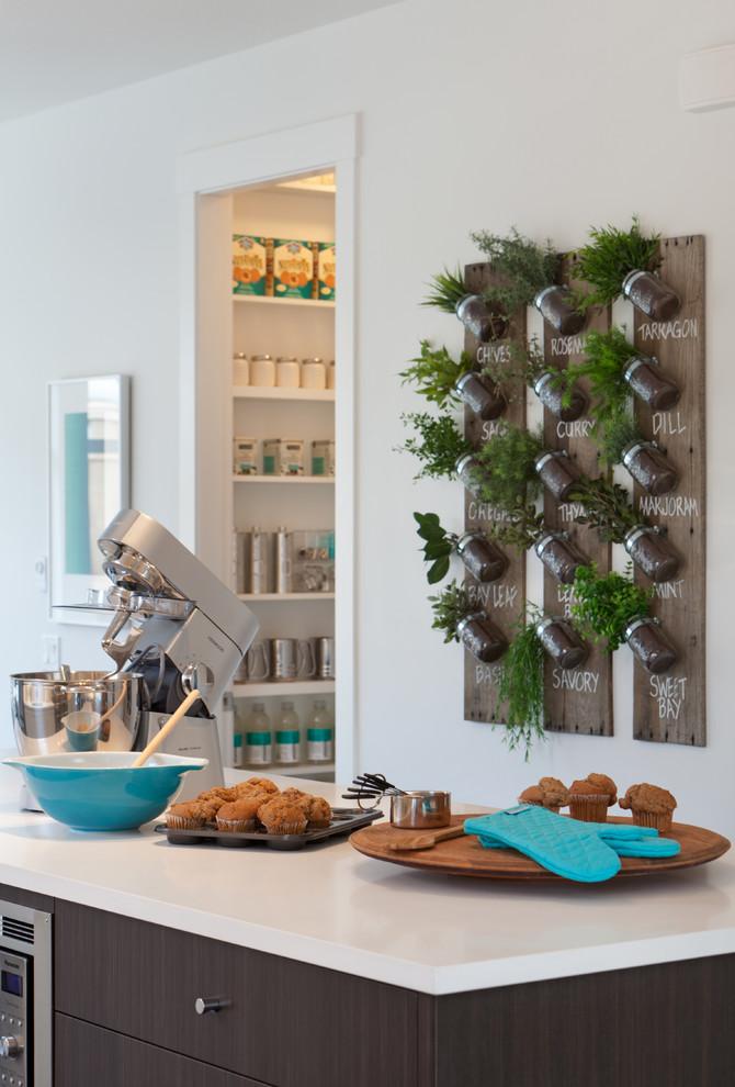 Hortinha vertical na cozinha