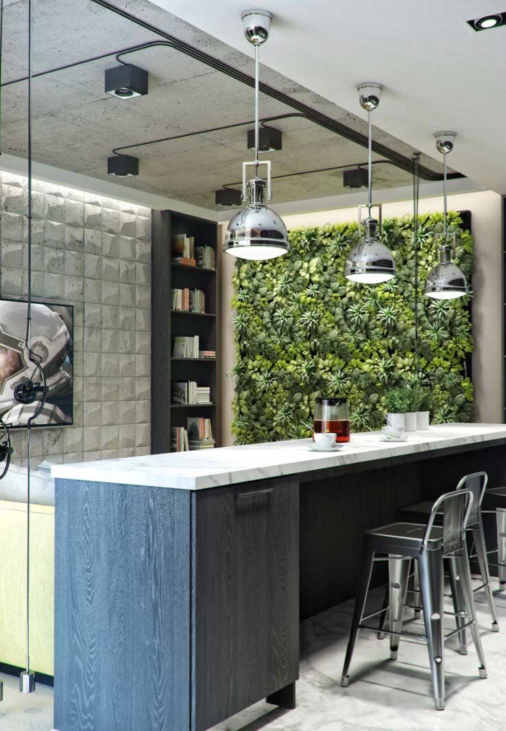No ambiente integrado: sala e cozinha