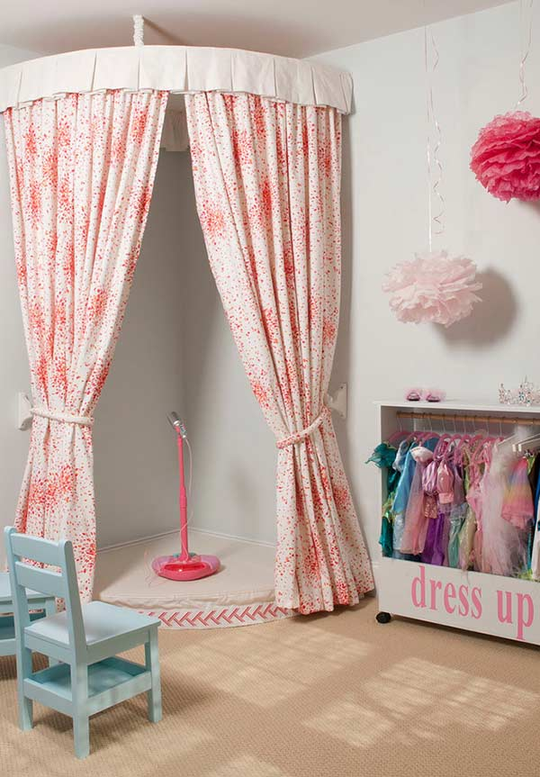 Móveis coloridos para quarto de menina