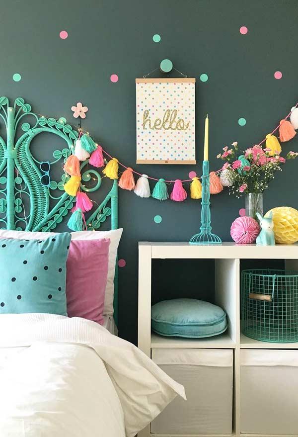 Cartela de cores para quarto de menina