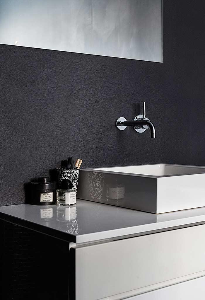 Efeito fosco para banheiro preto e branco