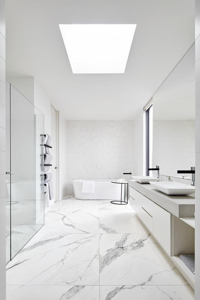Banheiro Branco 95 Fotos E Ideias De Decora 231 227 O Com A Cor