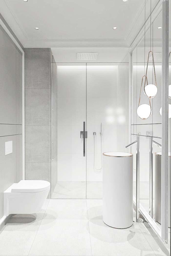 Branco ofuscante no banheiro