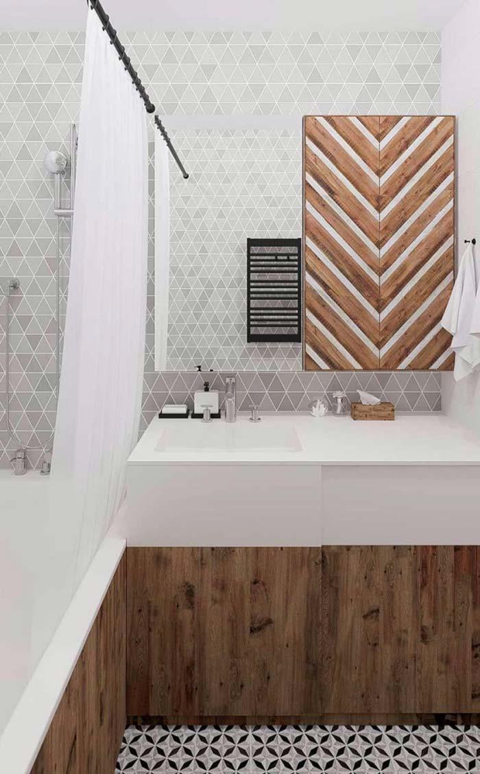 Banheiro cheio de informações