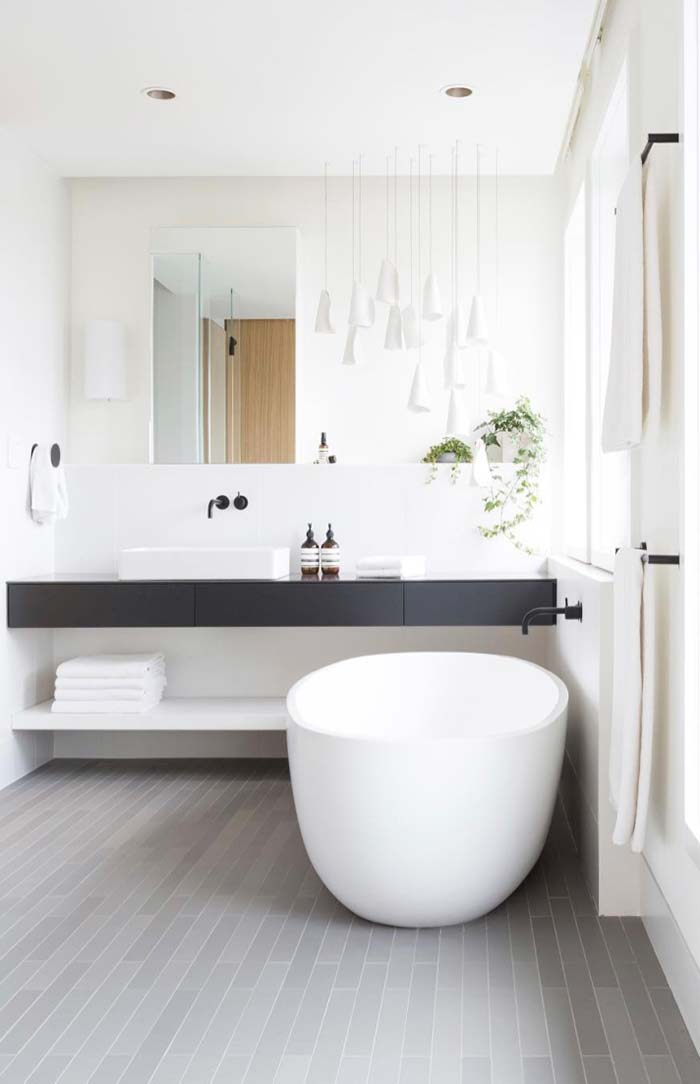 Banheiro moderno e funcional