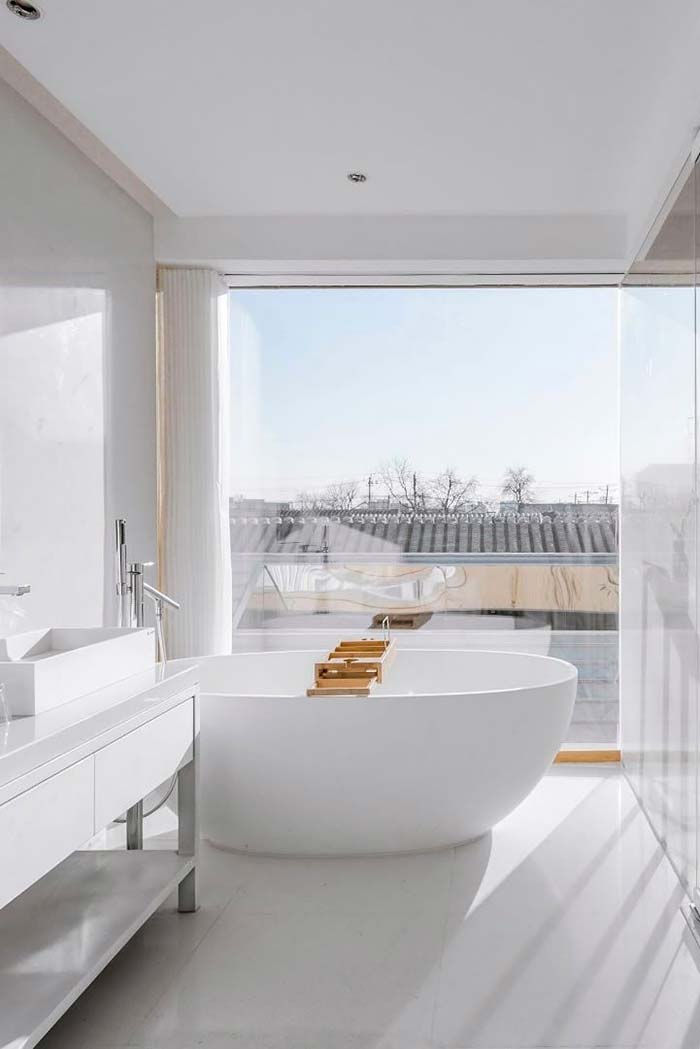 Branco com banheira