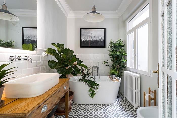 Banheira de plantas