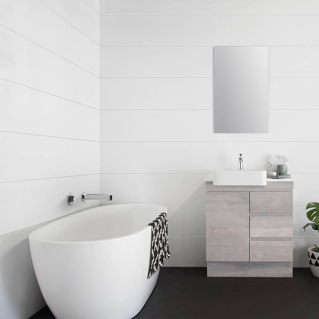Banheiro com banheira: simplicidade e conforto