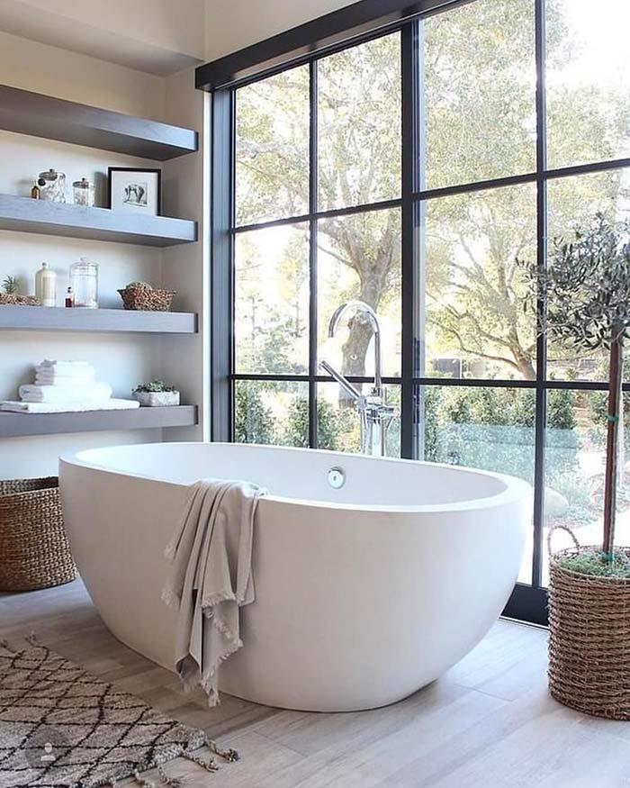Banheira para apreciar a vista