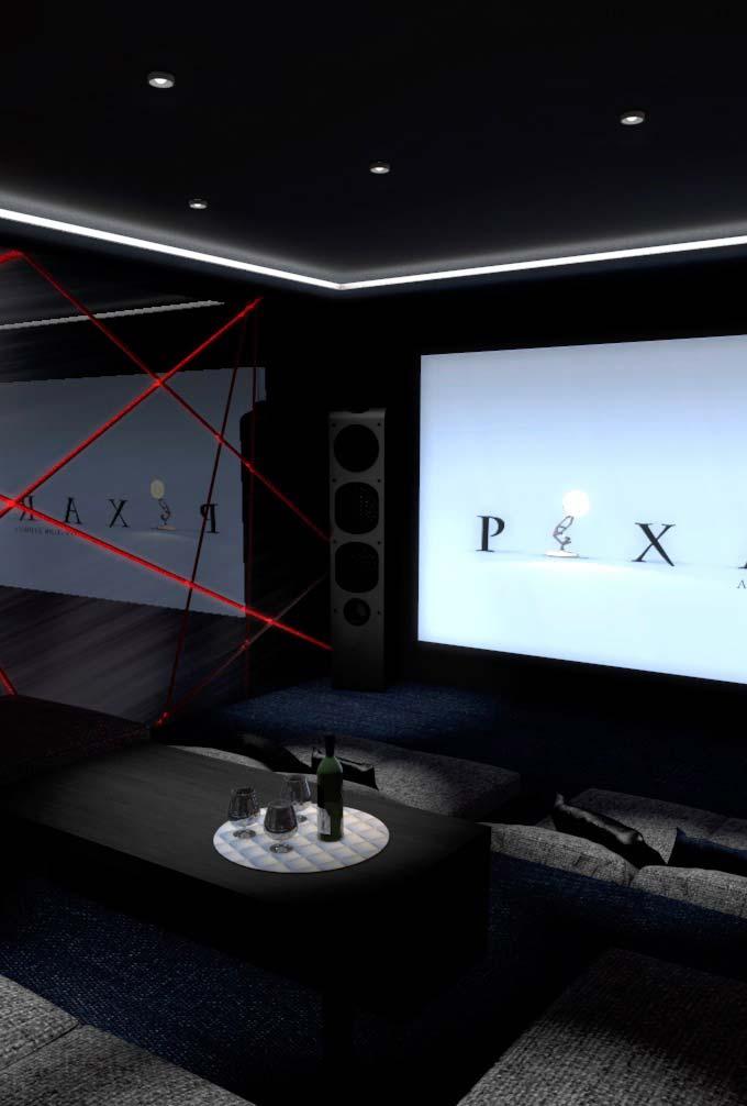 Tecnologia e sofisticação na decoração da sala de cinema