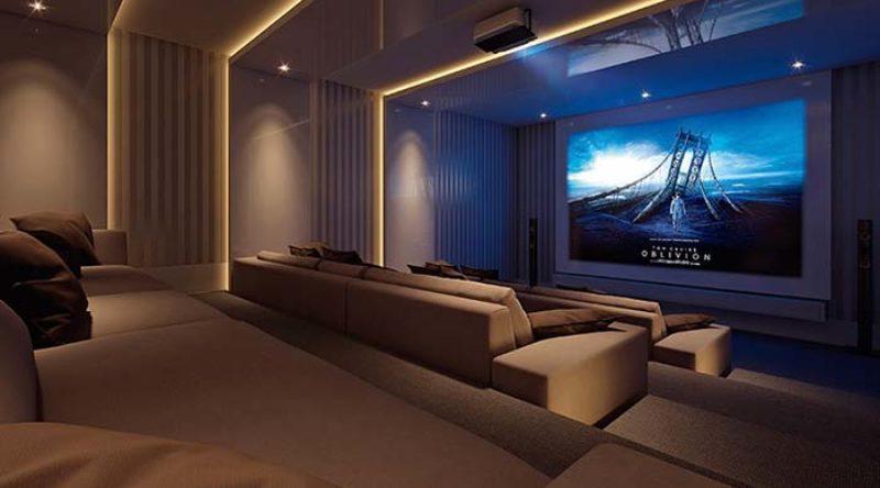 Cinema em casa: salas impressionantes na decoração