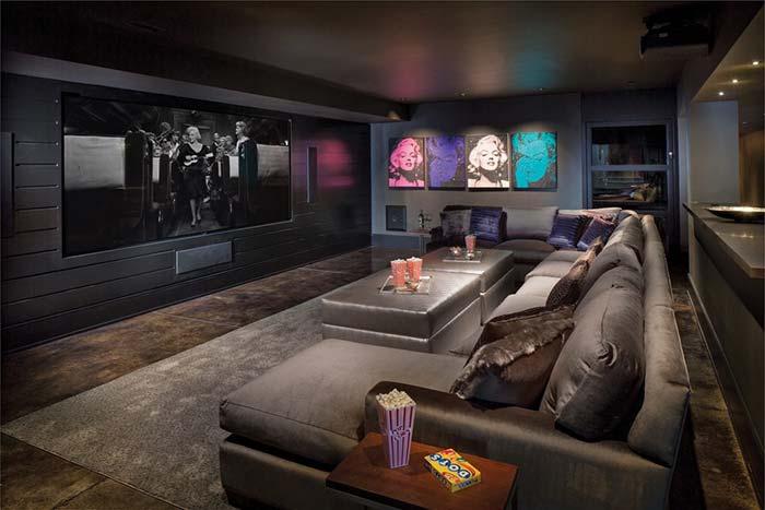 Decoração para a sala com um ícone de Hollywood